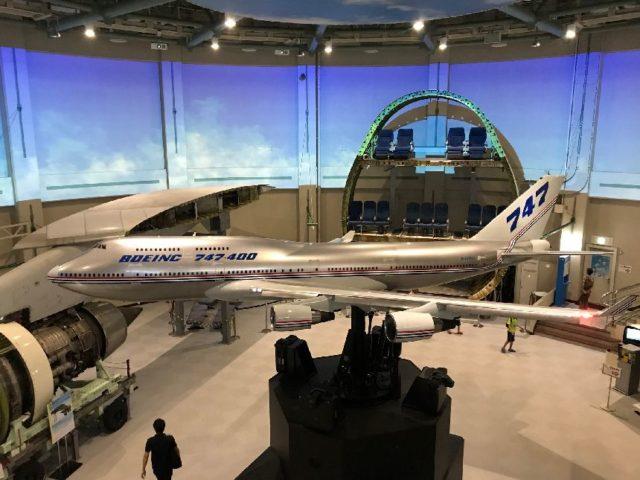 ボーイング747-400型機のシミュレーター