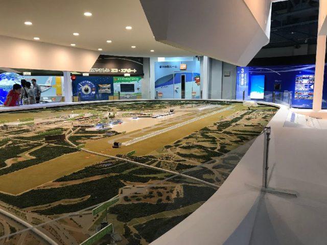 航空科学博物館の成田空港ジオラマ