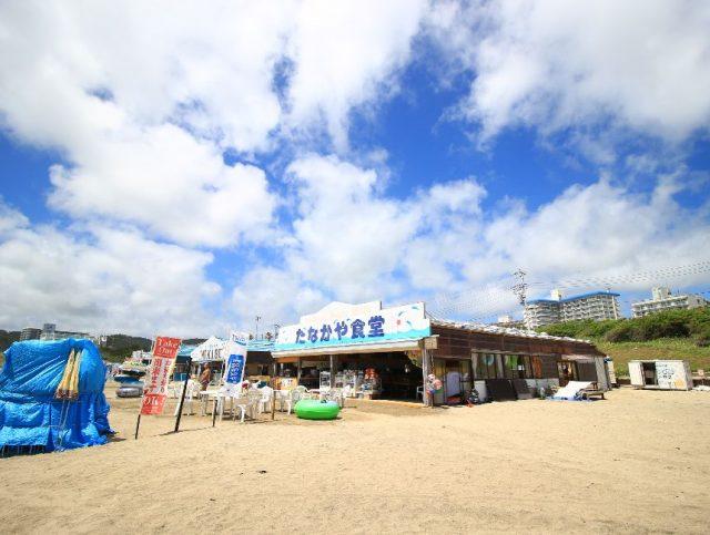 中央海水浴場の海の家