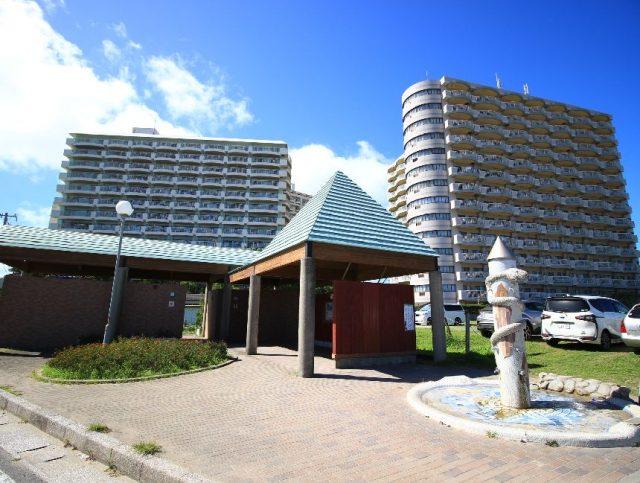 中央海水浴場のシャワー