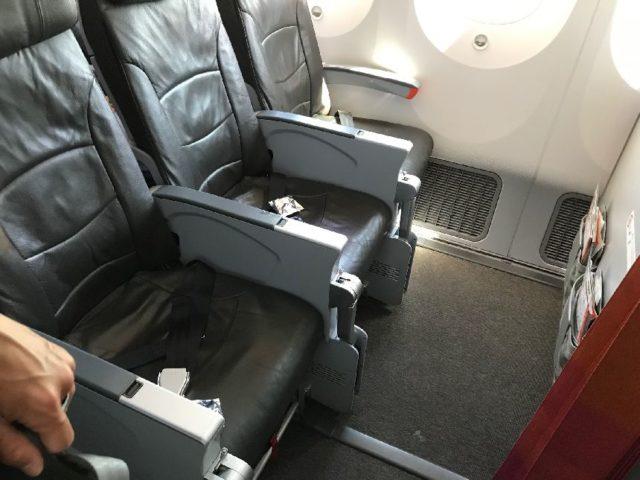 ジェットスターB787の座席10列
